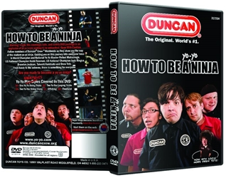Back cover of Yo-yo Ninja DVD on the left, and front cover on right