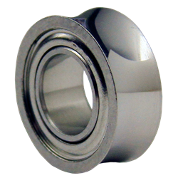 A chrome Konkave bearing for yo-yos