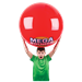 Boy holding red Duncan Mega Bounce XL ball