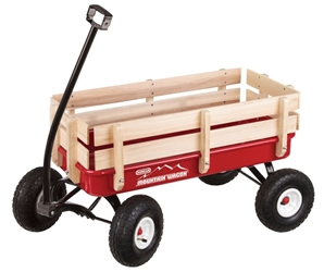 Mountain Wagon radio flyer, pathfinder, red, classic, wagons, all-terrain