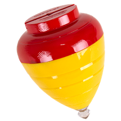 Red and yellow Duncan ripcord spin top