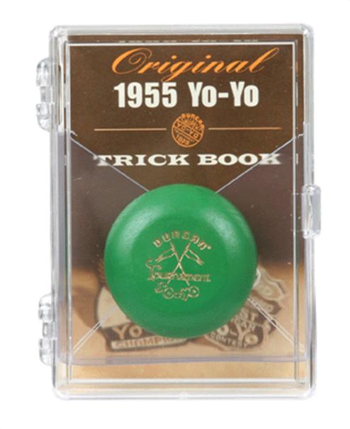 Duncan Wooden Crossed Flags Tournament Vintage-Replica YoYo Green