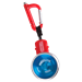 Red yo-tlility holster with blue Metal Drifter yo-yo